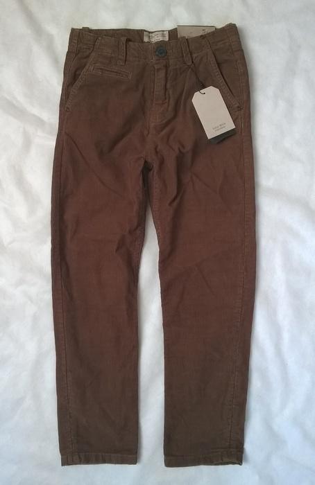 Zara sztruksowe brązowe spodnie 118 cm