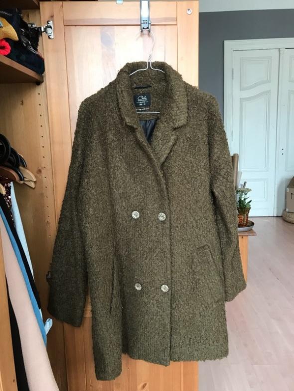 Zielony khaki płaszcz oversize 40 L Clockhouse