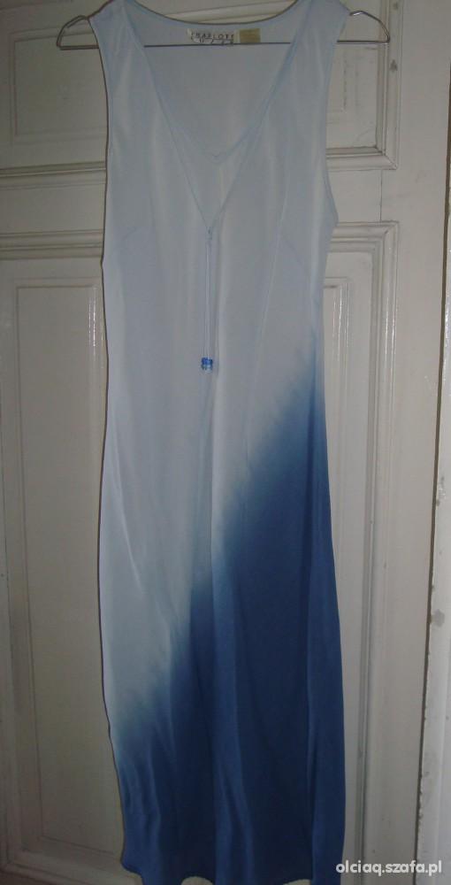 Sukienka błękitno niebieska