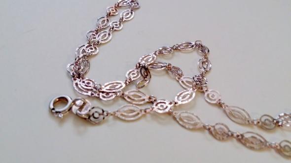 Ażurowy łańcuszek srebro 925