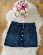 Spódniczka H&M jeasnowa z guziczkami z przodu s m tumblr...