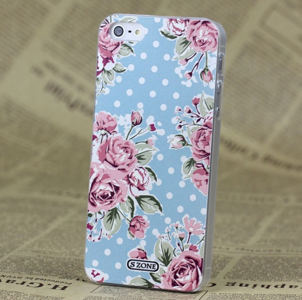 Nowe etui iPhone 4 4S vinatge retro kwiaty wzór sh