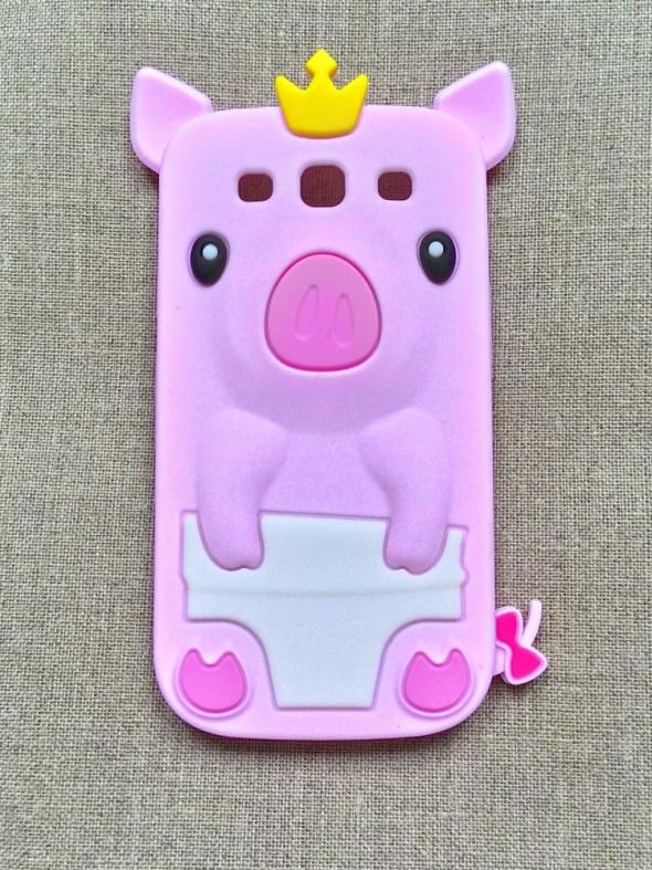 Nowe etui case Samsung Galaxy S3 silikonowe świnka