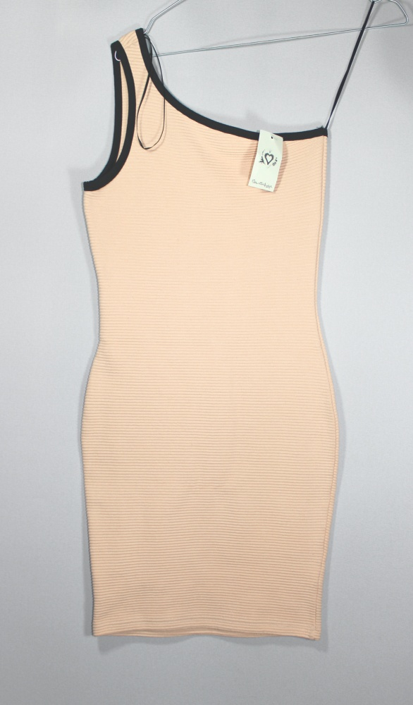 Bandażowa bodycon dress pudrowa XS S...