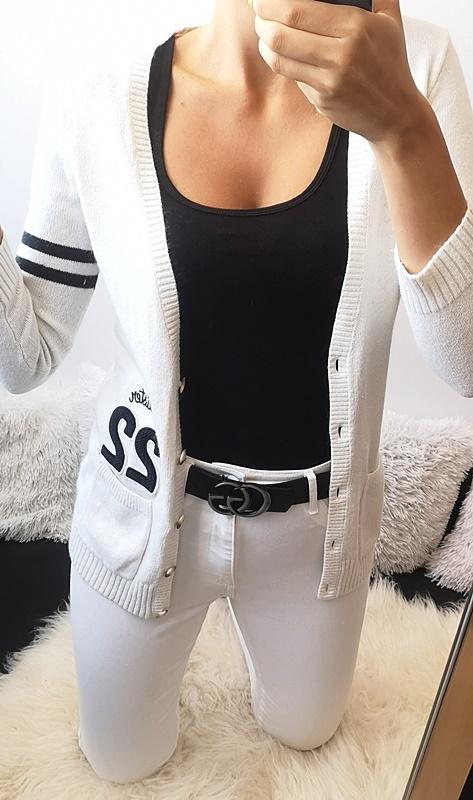 Hollister Oryginalny Sweterek beżowy M