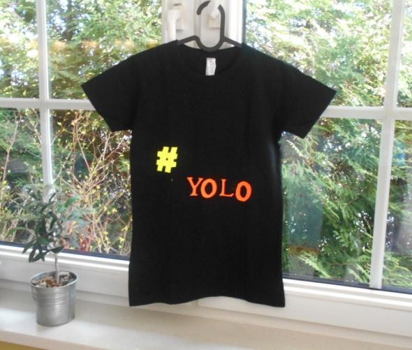 BC koszulka czarna tshirt yolo lol napisy
