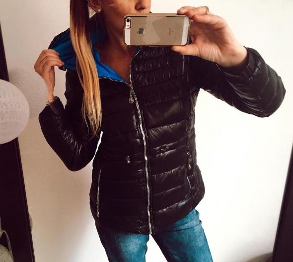 Czarna kurtka pikowana zimowa M