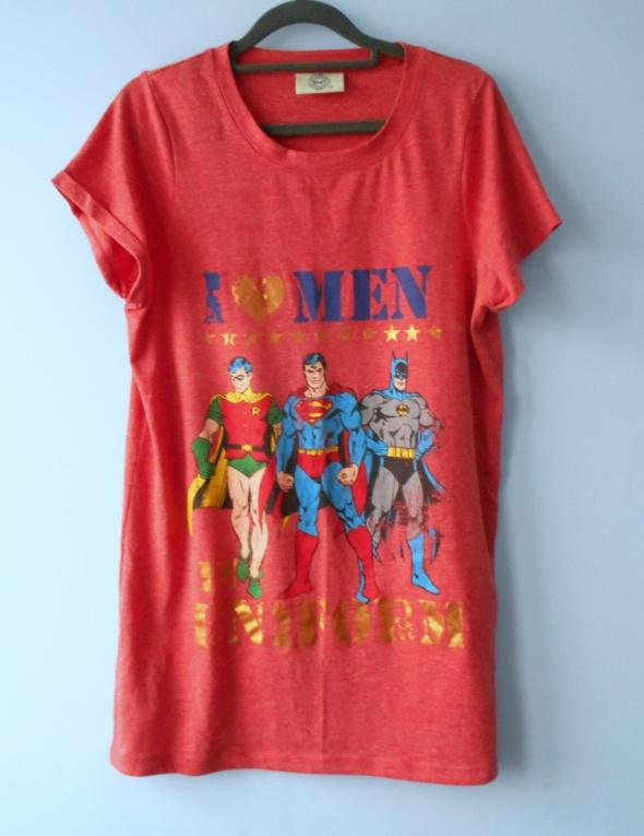 DC długa koszulka tshirt batman superman nadruk...