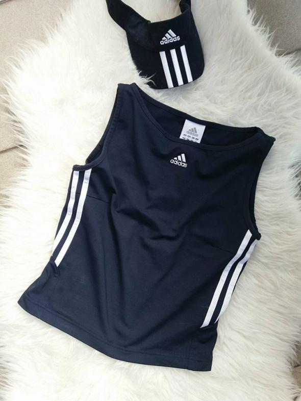 bluzka top Adidas granatowa r S