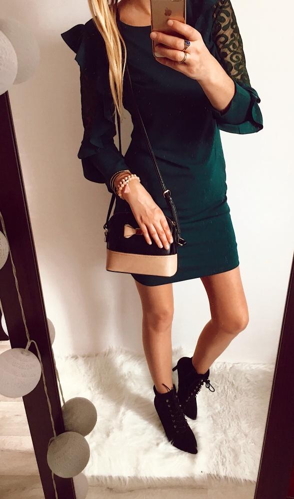 Sukienka Damska butelkowa zieleń M