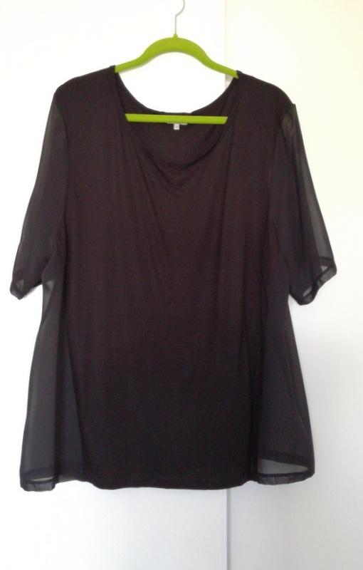 Czarna bluzka Peacocks 48 50