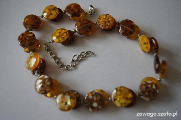 Miodowy naszyjnik z masy perłowej