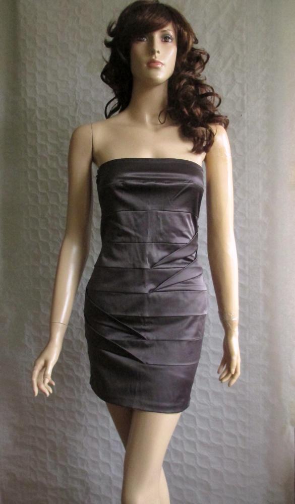 Miss Selfridge stalowa popielata sukienka 34...