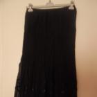 Długa czarna spódnica M L