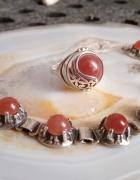 Pierścionek bransoletka Warmet różowy chalcedon...