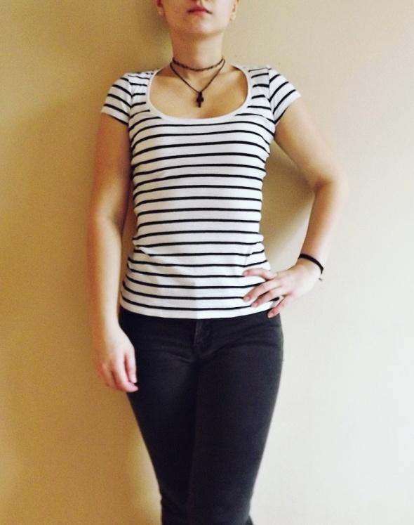 Tally Weijl koszulka tshirt basic w paski