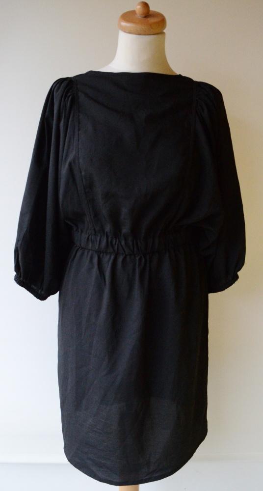 Sukienka Czarna H&M L 40 Elegancka Do Pracy