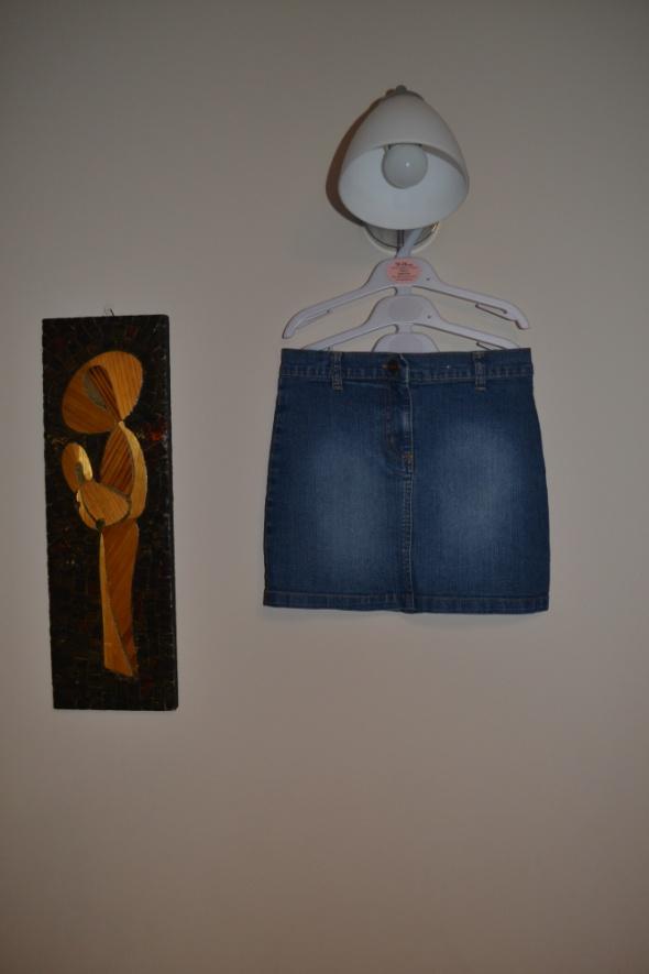 Jeansowa spódniczka 122cm 128cm 7 8 lat...