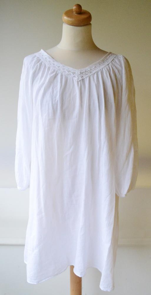 Tunika Biała Vila S 36 Biel Ażurowa Sukienka