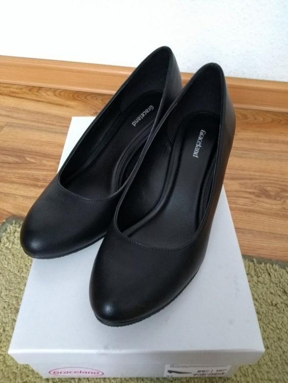 Buty damskie półbuty czarne rozmiar 37 Graceland Deichmann