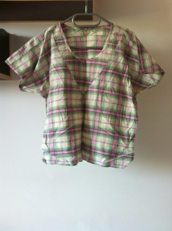Koszulka top kratka duża l 40 42 XL tshirt