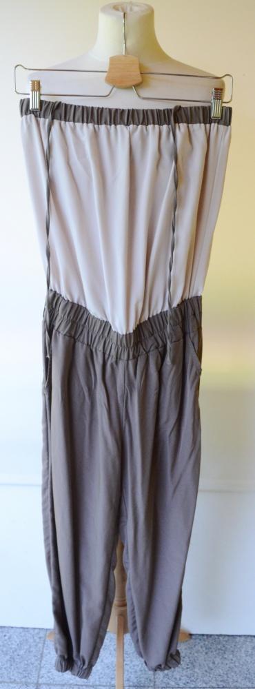 Kombinezon M 38 Brązowy Beżowy H&M Spodnie
