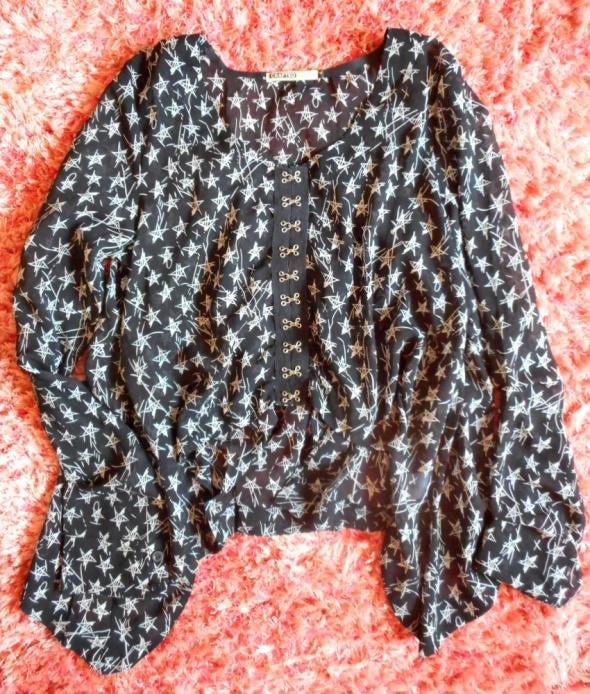 Asymetryczna koszula w gwiazdki