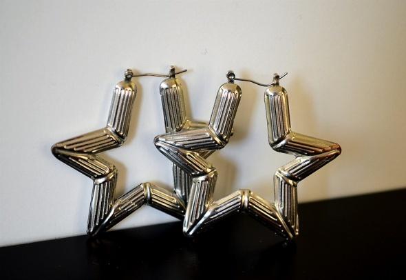 Kolczyki duże gwiazdki