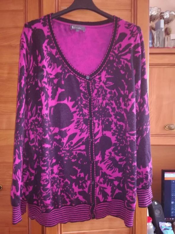 M&S śliczny rozpinany sweterek dla puszystej 50