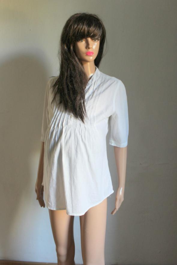 Biała koszula odcinana pod biustem idealna na ciążę r M