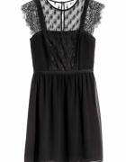 H&M czarna koronkowa sukienka...