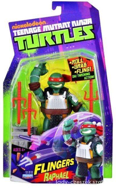TURTLES Żółwie Ninja Flingers Raphael 15cm