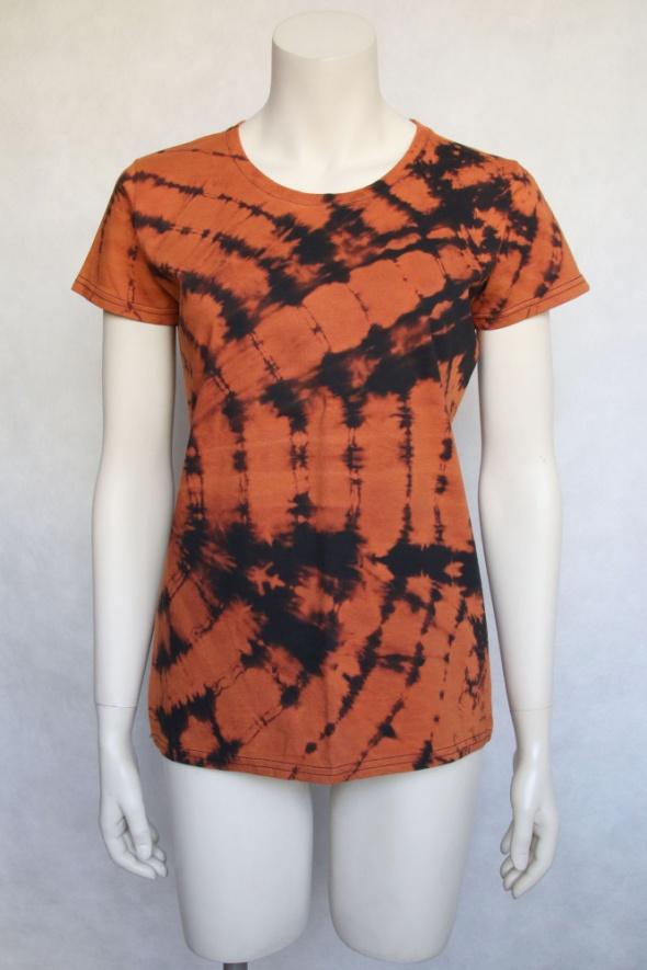 damski tshirt reverse tie dye L