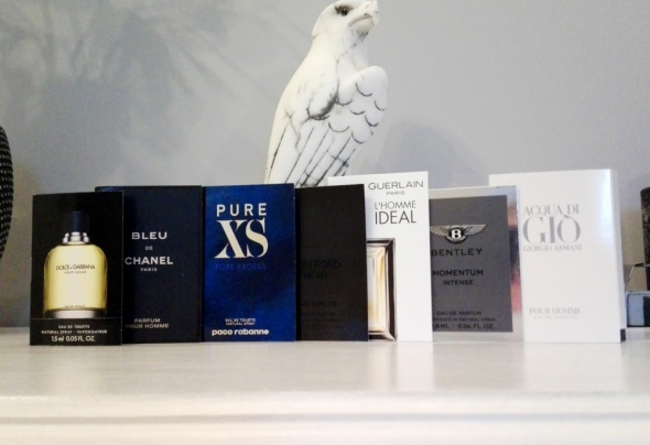 Próbki perfum męskie Chanel Ford Armani Guerlain Bentley D&G Rabanne