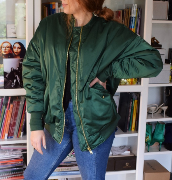 Bomberka H&M Oversize Zima Insta Tumblr
