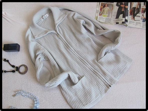 Beżowy kardigan rozpinany sweter z półgolfem L XL