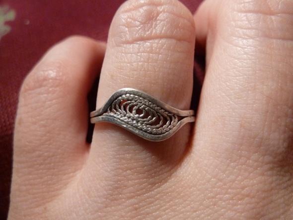 mały filigran srebro