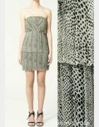 Zara zwiewna sukienka w zwierzęcy motyw...