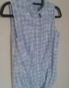 koszula bez rękawów reserved w kolorze błękitnym...