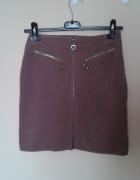 piękna spódnica z miękkiego materiału zamek z prz...