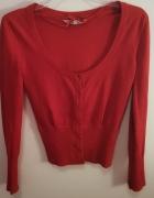 Czerwony sweter Clockhouse...
