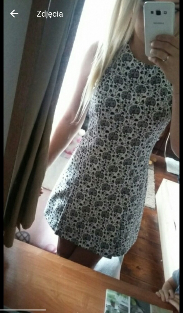 Sukienka wzory Zara krótka elegancka s