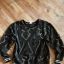 bluza w stylu vintage h&m wzory czarna ze złotą nicią L 40 over...
