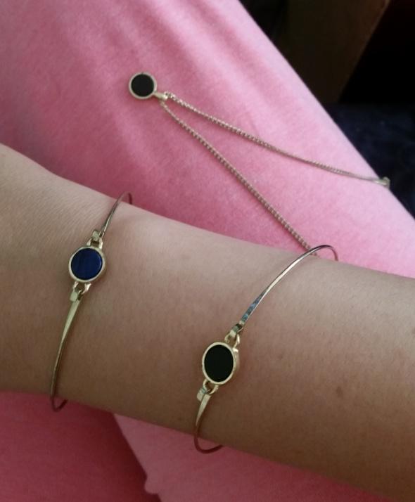 Pozłacana biżuteria komplet naszyjnik bransoletka...
