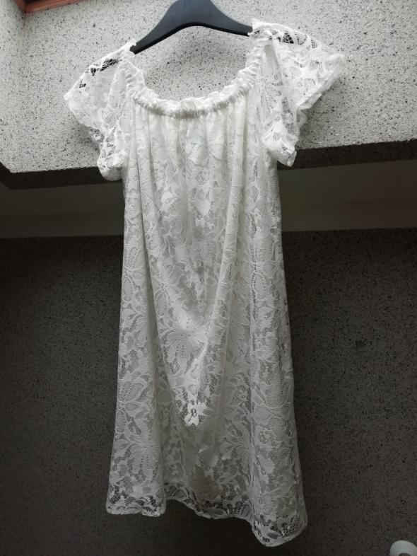 Biała sukienka koronka hiszpanka TANIO...