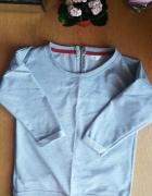 Nowa Bluza crop top z zamkiem szara...