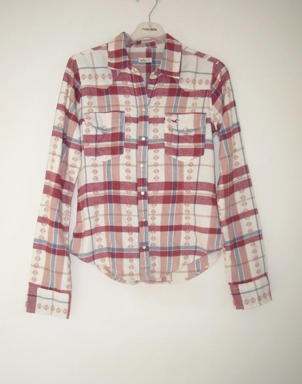 koszula w kratę hollister xs...