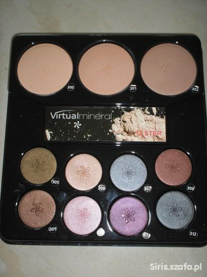 Paleta pudrów i cieni do makijażu