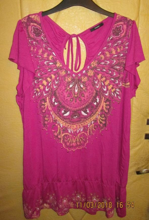 Różowa tunika z orientalem w roz 50