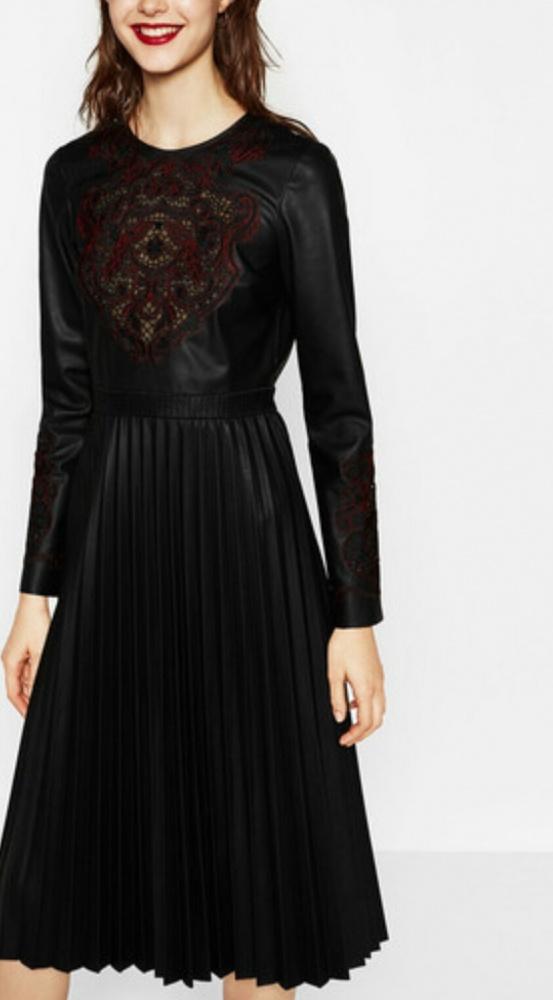 Sukienka hafty ZARA